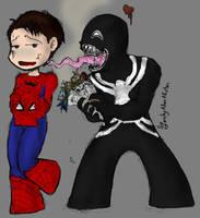 Venom and Spidey by LadyNorthstar