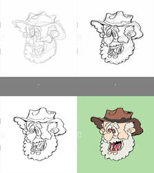Drawing Process: The Prospector by AZTECH2009
