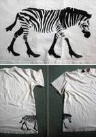 a zebra with class by T-a-g-g-e-r