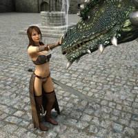 Dragon's mistress by ThierryCravatte