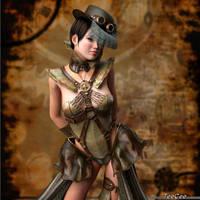Steampunk Lady by ThierryCravatte