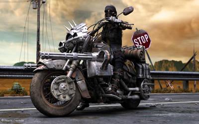 Wasteland biker by ThierryCravatte