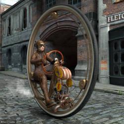 One Wheel Racer by ThierryCravatte