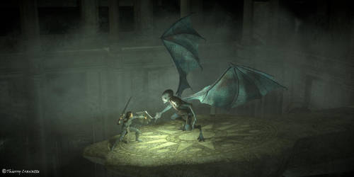 Winged Demon by ThierryCravatte