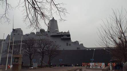 USS Somerset from Penns Landing Quay by ssg114