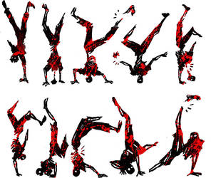 break dance zombie_ 10 poses by Kuroi-Sama
