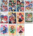 Magic Knight Rayearth Idol cards by Jelenity