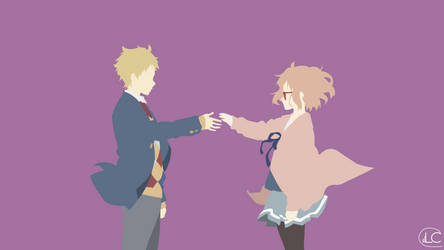 Kyoukai no Kanata Minimalist Anime Wallpaper by Lucifer012