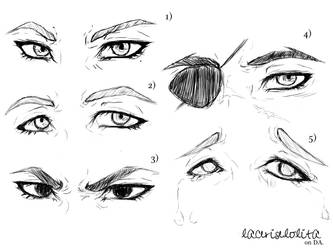 Rough Male Eye Sketches by laceriselolita