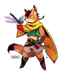 Fox Magician Pascal by Cheppoly