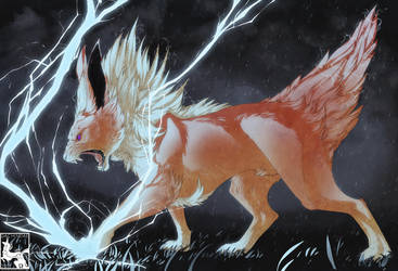 JOLTEON USED THUNDER by Dachindae
