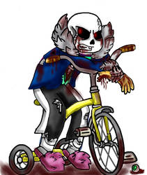 Zombie!Sans (redraw) by miller7751