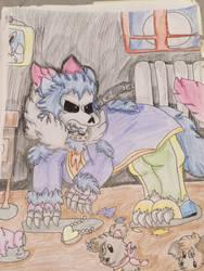 Werewolf Kid!SBMD Sans by miller7751
