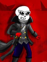 Sans as Joker (request) by miller7751