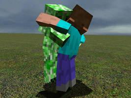GMod Minecraft - Creeper hug by Tryzon