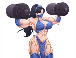 Kitana dumbbells workout by Superstrongbabes