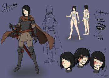The Female Knight Sheena by sorenshadow