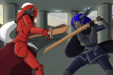 Sparring by sorenshadow