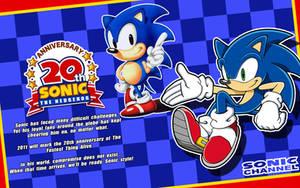 Sonic's 20th Wallpaper 1 by Fuzon-S