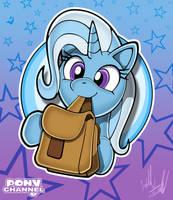 Pony Channel: Trixie (Portrait) by Fuzon-S