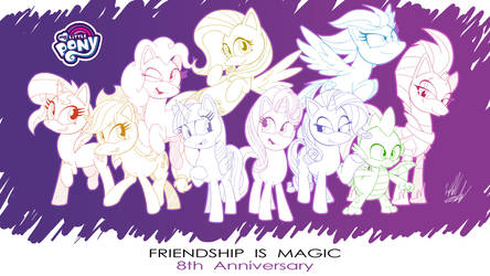 8 Years of Friendship +Wallpaper+ by Fuzon-S