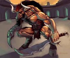 Minotaur Gladiator by orgo