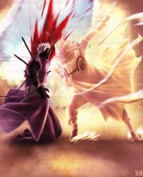 637 - Obito vs Minato, Sensei! by DaisanART