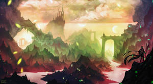Fantasy Landscape (yt timelapse video) by DaisanART