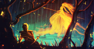 daily speedpaint 035 - kissed by fire by DaisanART