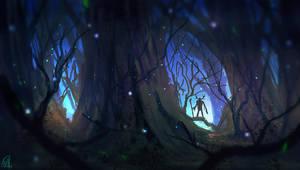daily speedpaint 039 - haunted forest #2 by DaisanART