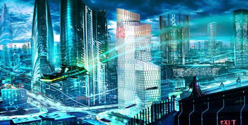Last future city matte paint by DaisanART