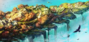 Waterfall by DaisanART