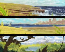 Landscape speedpaints 39[48] by DaisanART