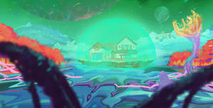 A house in a strange place by DaisanART