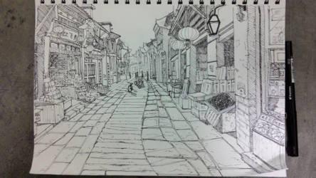 Chinese street sketch~~  by jackyfish123