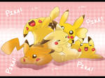 Plethora of Pikachu by WeisseEdelweiss