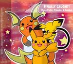 Shiny Pichu, Pikachu, and Raichu! by WeisseEdelweiss
