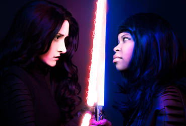 Fem Kylo vs Fem Finn by beckyalbright