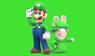 Luigi and Rabbid Luigi - Stamp by Ferxo129
