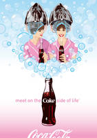 Coca-Cola Girls - Bubble Fun by Coca-Cola-ArtGallery