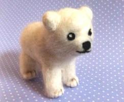 Iglu the Needle Felted Polar Bear :) by StarlitCutesies