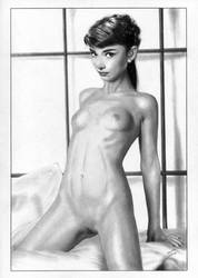 Audrey Hepburn by TimGrayson