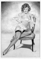 Gil Elvgren Pin-Up Model by TimGrayson
