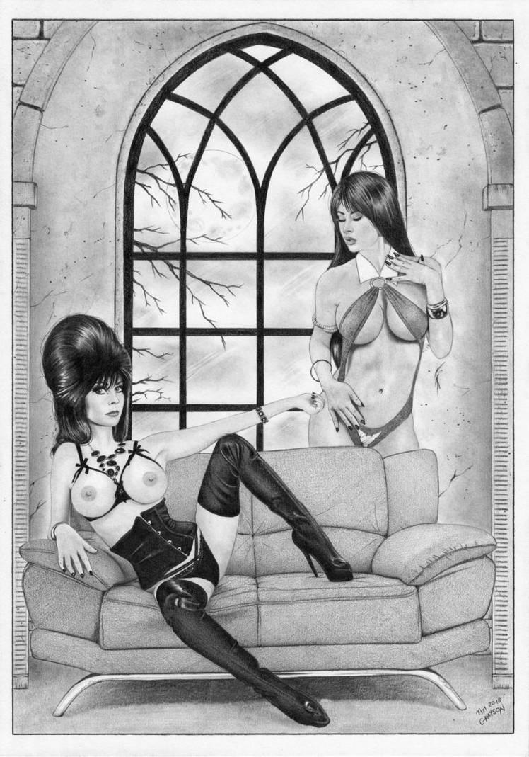 Elvira Vampirella by TimGrayson