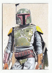 Boba Fett Sketch Card ACEO by TimGrayson