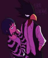 Jirou and Tokoyami by Ununshi
