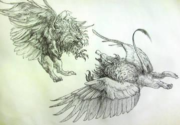 Griffins will fight... by YemaYema