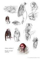 Harpy roughs- by YemaYema