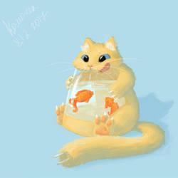 Kettle cat by GooseupII