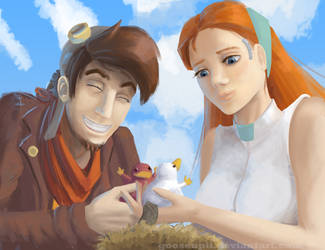 Deponia : Rufus and Goal and the Platypuses by GooseupII